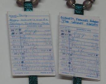 Library Card Earrings E88