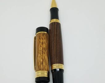El Grande Roller ball Pen made from Zebrawood and Morado