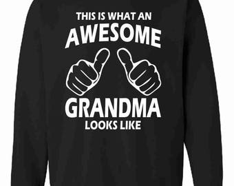 This Is What An Awesome Grandma Looks Like Sweatshirt Jumper