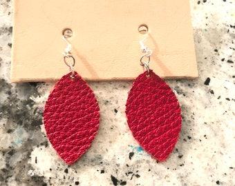 Mini Round Earrings (Red)