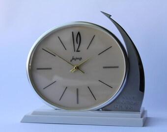 Very Rare Soviet mantel clock Molnija. Molnija table clock. Desk clock USSR. Mechanical clock. Working clock. Molnija. Gagarin. spaceship