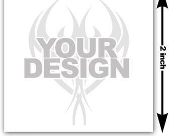 2x2 inch Image or logo as custom temporary tattoo - upload design or photo & we create customized temp fake tattoos - Personalized