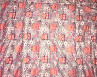 Fleece Owl weighted blanket