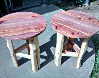 Cedar end table.