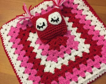 Sleepy Owl Crochet Lovey