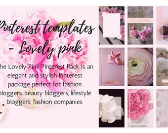 Pinterest templates - Lovely pink