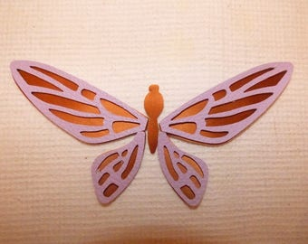 BEAUTIFUL BUTTERFLY FAUX LEATHER 2 COLORS