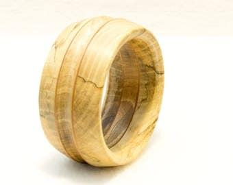 Bracelet made of 2 types of wood, turned, unique