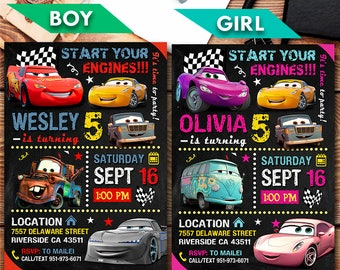 Disney Cars Invitation, Disney Cars, Disney Cars Party, Disney Cars Printable, Disney Cars Invite, Disney Cars Birthday