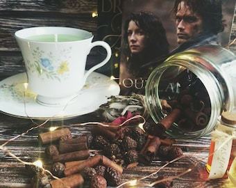 Sassenach | Outlander Candle | Bookish Candle | Sassenach Candle | Teacup Candle | jamie Fraser