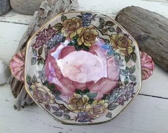 Vintage Maling dish or bowl Rosine pattern