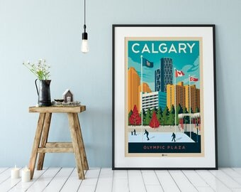 Travel poster etsy for Poster decoration murale
