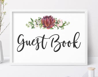 Wedding Guest Book, Wedding Guest Book Sign, Wedding Guest Book Card, Wedding Signage, Wedding Sign, Printable Wedding Guest Book