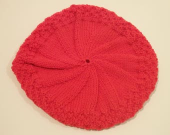 Red Knitted Beret