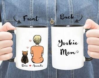 Personalized Yorkie Mug, Yorkie Mom Mug, Yorkie Dad Mug, Yorkie Gift, Dog Mom Mug, Dog Dad Mug, Custom Yorkie Mug