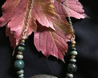 Green jaspers, natural stone