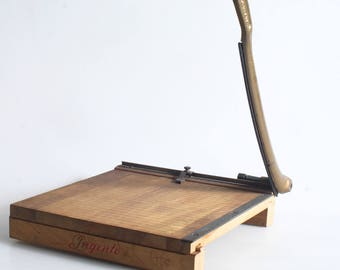 Paper Cutter Vintage Guillotine