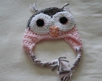 Baby Hat, Newborn crochet baby owl hat