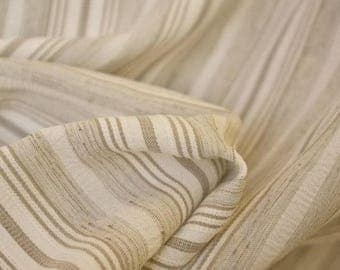 Taupe Striped Fabric - 54 Inches Wide
