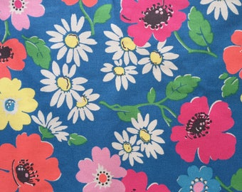 "Cath Kidston Half Yard Cotton Canvas Fabric 56"" Wide_Paradise Flower2 DF040"