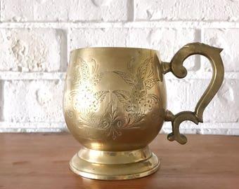 Vintage Brass Mug