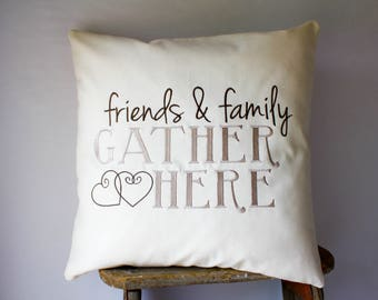 18x18 Gather Pillows, Rustic Farmhouse Pillows, Farmhouse Throw Pillows, Fixer Upper Style, Magnolia Market Style, Joanna Gaines Inspired