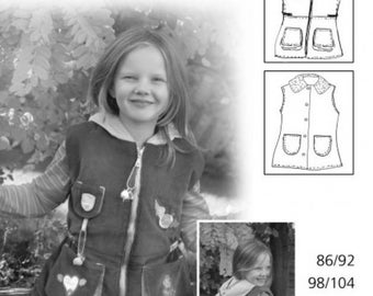 "Farbenmix pattern ""Vest Elisa"""