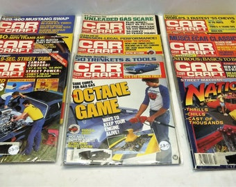 CAR MAGAZINES From The 1980's...Car Craft...Hot Rod & Car Review...18 Total... Bundled Sale Priced At 95 Cents Each!