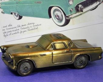 1955 FORD THUNDERBIRD...Diecast Coin Bank From Banthrico...Produced In 1974 For 1st. Savings & Loan Of Massillon, Ohio