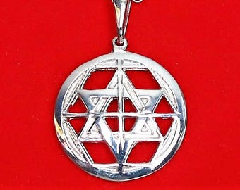 Martinist medallion universal pentacle pendant of high protection in silver sterling 925