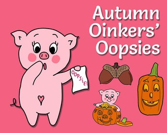 Autumn Oinkers' Oopsies - Mess up Bags - Oops Bags - Oops Planner Stickers - Imperfect Stickers - Discounted Planner Stickers - Miscuts
