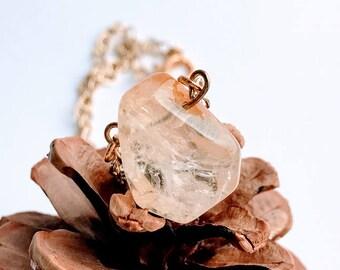 Citrine Necklace - Citrine Jewelry - Raw Citrine Necklace - Raw Crystal Jewelry - Citrine Crystal Jewelry - Healing Crystal Jewelry