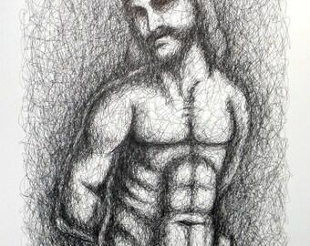 Ecce homo - ink on paper