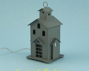 lantern with 12 Volts lamp - dollhouse 1:12th scale - dollshouse miniature - furniture for dolls
