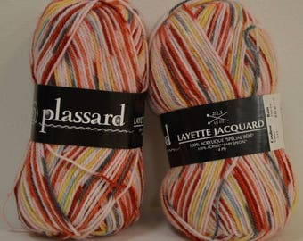 """Wool Plassard """"Baby more"""" red Jacquard special baby"""