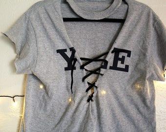 YALE lace up shirt