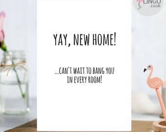 Custom greeting card etsy funny rude new home greeting card congratulations husband wife boyfriend girlfriend custom personalised m4hsunfo
