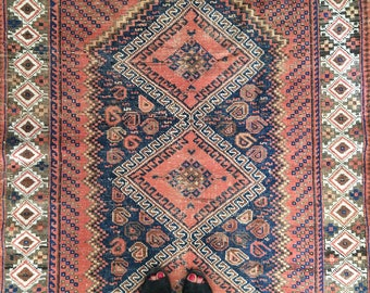 Reserved! ** Beautiful Antique Hand-knotted Rug - the HONEY - Love Worn
