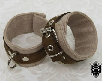 Handcuffs BDSM bondage cuffs Brown jeans