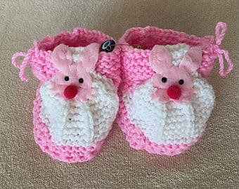 Crochet Baby Girl Booties Knitting Crib Shoes Newborn Gift Pink White Booties Worldwide Free Shipping Handmade Baby Shoes Baby Shower infant