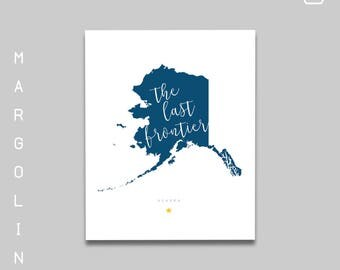 Alaska Gifts / Alaska Art Print / Alaska Artwork / Alaska State Cutout / Alaska Poster / Alaska Print / Alaska Home Decor / Alaska is Home