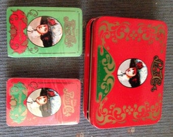 Vintage looking PepsiCola playing cards in tin