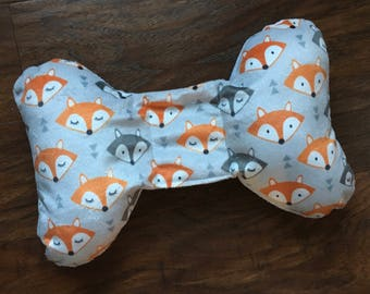 Minky head support, Fox Print, Positional Plagiocephaly, stroller or carseat head support, torticollis neck support, Baby Branch Boutique