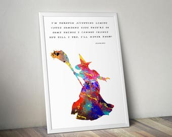 Wicked Witch Quote Watercolor Painting Print, Wizard of Oz Fine Art, Print, Art,  Wall Decor, Party Decor, Musical, wicked witch of the west