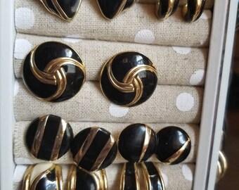 Lot of earrings including trifari!