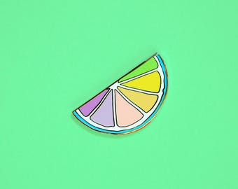 Pastel Citrus Hard Enamel Lapel Pin