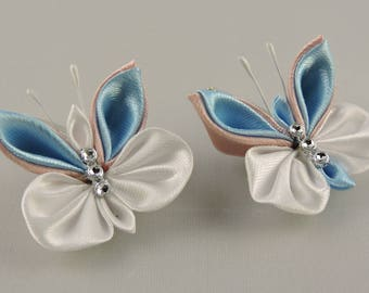 Butterfly hair clip. Set of 2 hair clips. Girls hair clips. Free shipping