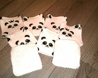 Set of 8 wipes