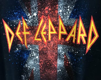 Def Leppard vintage band / rock / heavy metal t shirt S-M