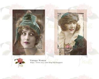 Vintage Women Instant Digital Download